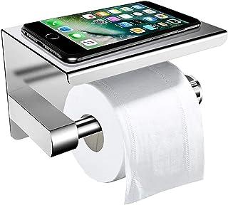 comprar comparacion Portarrollos Baño Adhesivo, ZOTO Acero Inoxidable Porta Papel Higiénico Incluye Adhesivo 3M con Almacenamiento de Teléfono