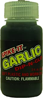 Spike-It 3003 2-Ounce Dip-N-Glo Soft Plastic, Lure Dye Black, Garlic Scent