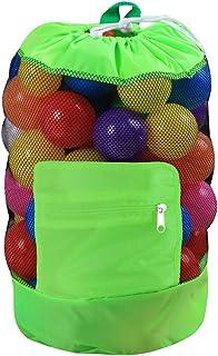Lixada Tote Bag Beach Mesh Bag Toy Drawstring Beach Backpack for Travel Beach Waterpark Supermarket