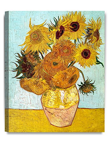 DECORARTS - Twelve Sunflowers, Vincent Van Gogh Art Reproduction. Giclee Canvas Prints Wall Art