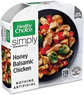 Healthy Choice Simply Steamers Frozen Dinner, Honey Balsamic Chicken, 9.9 Ounce