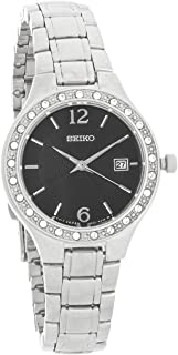 Ladies Stainless Steel Swarovski Enhanced Watch with a Date Window