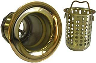 Simpatico 30083P Bar Sink Strainer Bail Basket Type 2-Inch Opening, Polished Brass