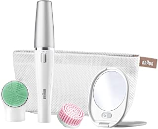 Braun FaceSpa SE 853V 3-in-1 Facial Epilator/Epilation (Japanese Import) for Hair Removal and Cleansing Brush System