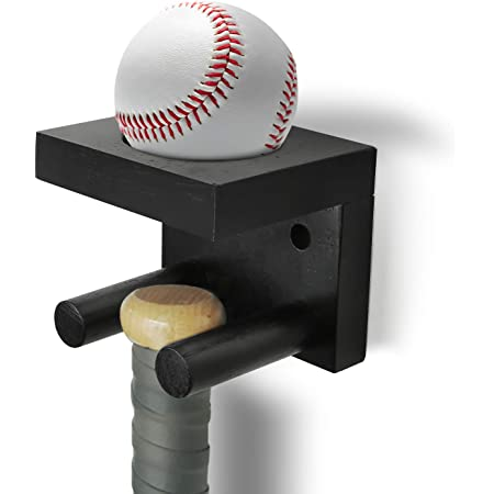 Domilay 1Pcs Baseball Bat Holder Rack for Vertical Display Fit the Handle of Any Baseball or Softball Bats