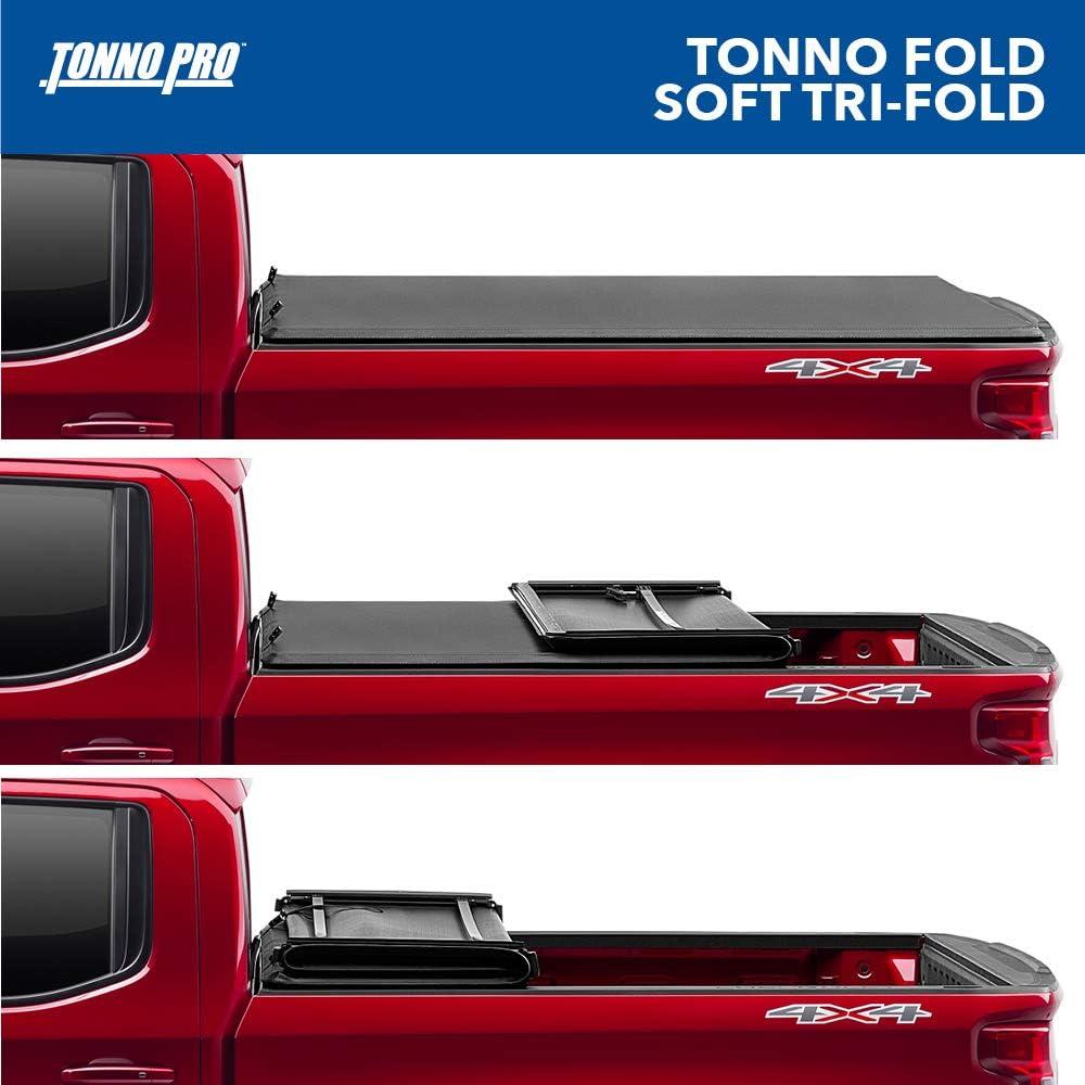 1980-1986 GMC C1500 Tonno Pro Tonno Fold 42-110 TRI-FOLD Truck Bed Tonneau Cover 1973-1983 Chevrolet C10 K10 // GMC C1500 Fits 6.6 Bed 1987 Chevrolet R10 //GMC R1500 1975-1986 K1500