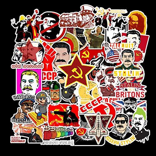 WYZNB Rusia World War II Maleta Maleta Maleta Maleta Maleta Caricatura Viaje Aventura Impermeable Pegatinas 50pcs