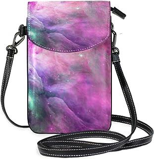 ZZKKO Cosmic Nebula Galaxy Mini Umhängetasche, Handtasche, Leder, für Damen, lässig, Reisen, Wandern, Camping