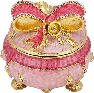 Sutinna Elegante Caja de baratijas Adornos Pintados con Esmalte para Guardar Perlas Amigos Colgantes Familia