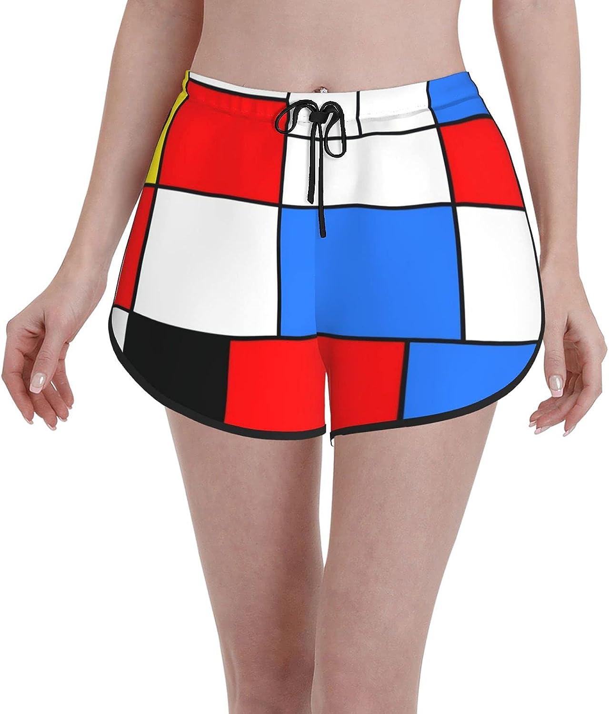 Women's Girl's Swim Trunks Abstract Lines Colorful Mondrian 2021 autumn and winter new Regular dealer