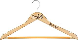 Krezy Case Personalize Wood Hanger- Wedding Hanger-Bride Hanger-Wedding Dress Hanger-engreaved Monogram Hanger-Bridal Party Hanger-Wedding-Gift for Bride, Bridesmaid,Bamboo Wood