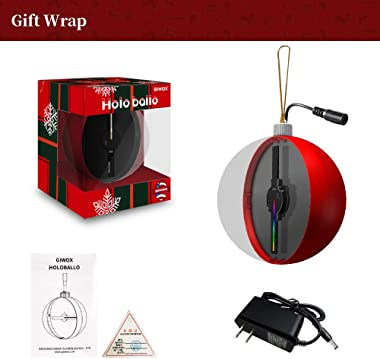 GIWOX Christmas Ball Ornaments for Xmas Tree,3D Holographic Xmas Theme Shatterproof Christmas Decorations Hanging Ball for Ho