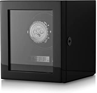 Automatic Watch Winder with LED Backlight and LCD Display for a Single Watch