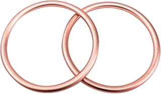 Sling Rings 3-inch Diameter by Cutie Carry. Infant Approved, mom Loved. Aluminum, lab Tested for Strength and Safety. Works with Your own Material or Convert wrap to Sling. (Rose Gold)