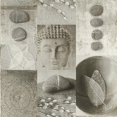 Keuken Badkamer Boeddha Tegel Behang Wasbaar Vinyl Blad Kiezel Glanzende Rasch