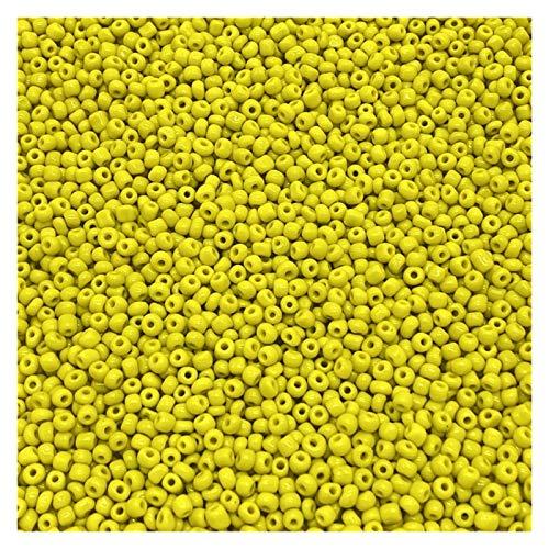 HAIXUE 200-1000PCS 2/3 / 4mm Charm Cuentas de Semillas de Vidrio checo Bricolaje Pulsera de Bricolaje Perlas para joyería Hacienda DIY Pendiente Collar (Color : 04, Item Diameter : 2mm(1000pcs))