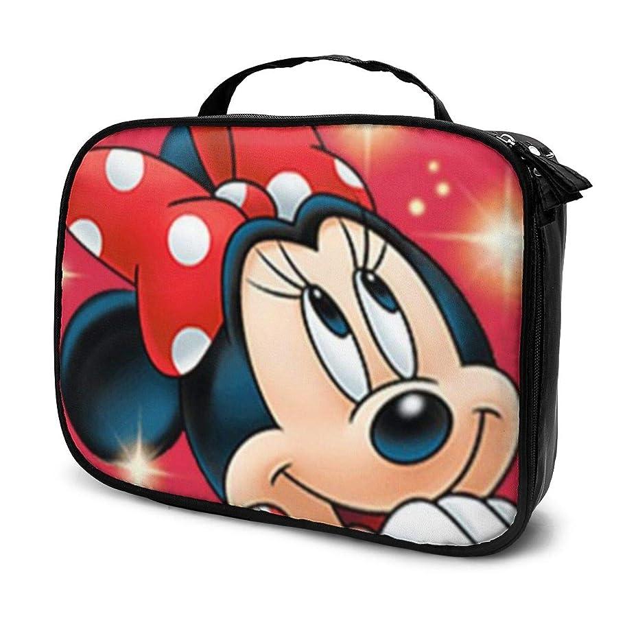 純粋な相手トランクDaituキラキラミニーマウス 化粧品袋の女性旅行バッグ収納大容量防水アクセサリー旅行