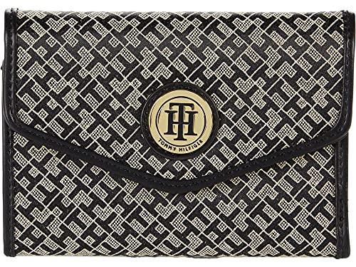 Tommy Hilfiger Large-Medium Envelope Wallet-Mini Geometric Jacquard Black/Alpaca One Size