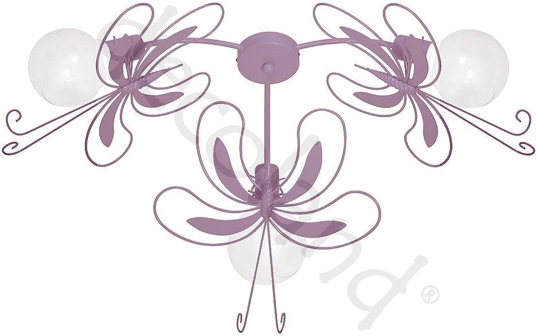 PAZ III Lavendel Kinderzimmerleuchte Kinderzimmerlampe Hngelampe Deckenleuchte Deckenlampe Kronleuchter