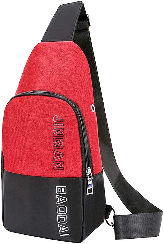 Casual Sling Bag Lightweight Crossbody Backpack Waterproof Shoulder Bag Multipurpose Daypack with USB Charging Port for Travel Hiking Men Women