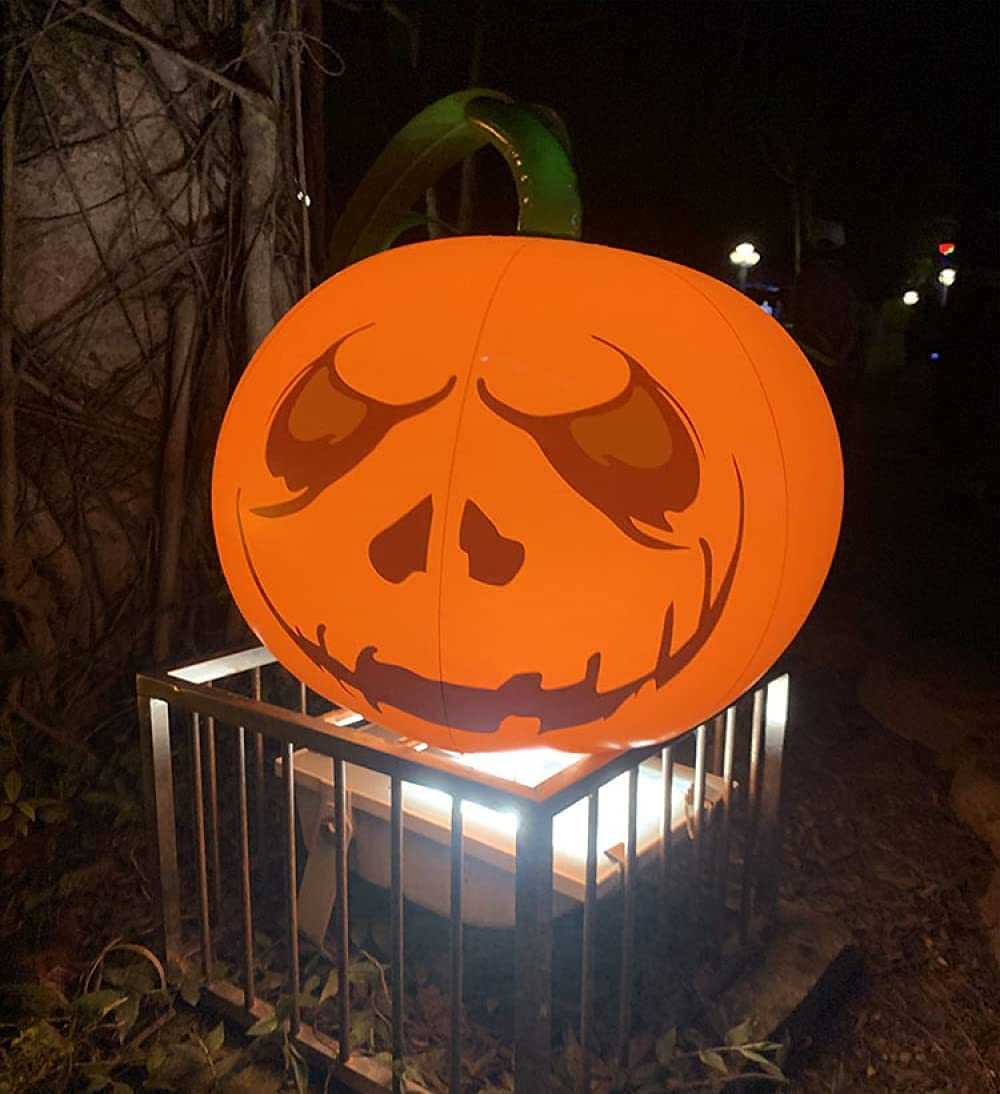 16 Inch Halloween Inflatable Glowing 70% OFF Outlet Pumpkin Ball Remote Max 65% OFF Control