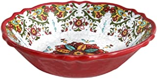 Le Cadeaux 243ALGR Allegra Red Cereal Bowl, 7.5 inches,