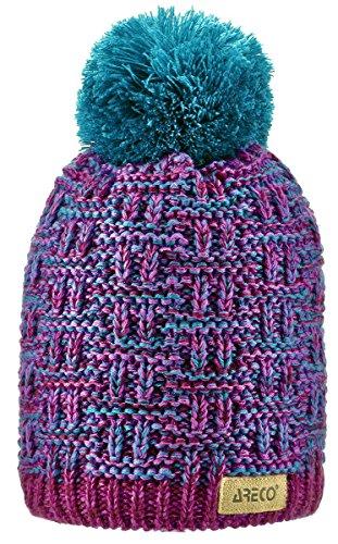 Areco Dziecięca czapka z pomponem fioletowy fioletowy Rozmiar uniwersalny