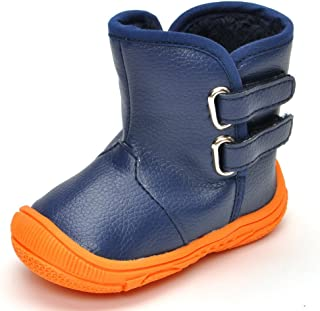 Toddler Boys Gilrs Rubber Sole Warm Winter Snow Boots
