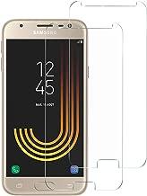 NEW'C Lot de 2, Verre Trempé pour Samsung Galaxy J3 2017 Film Protection écran - Anti Rayures - sans Bulles d'air -Ultra Résistant (0,33mm HD Ultra Transparent) Dureté 9H Glass