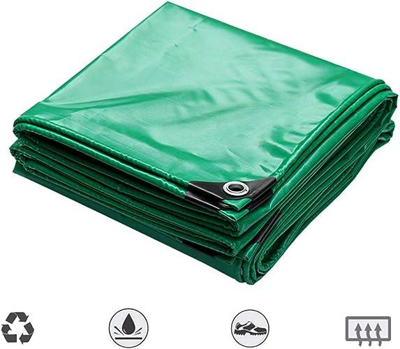 Tarpaulin HUO Bache Imperméable, Couverture Anti-UV De Bache Résistante à l'usure, Matériel Fort De DIY, 550g   M2 (Couleur   Vert, Taille   3  6m)