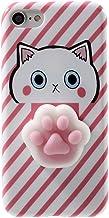 Case for ZTE ZMax Pro 2,Polar Bear Squishy Cat Chicken Finger Pinch 3D Silicone Relax Poke Squishy Toys Animals TPU Case for ZTE Blade Z Max/ZTE Sequoia Z982 Cat Paw Pink