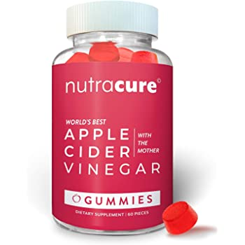 Apple Cider Vinegar Gummies - Raw, Organic, Unfiltered ACV with The Mother - More Effective Than Pills and Capsules - Supports Detox, Acid Reflux, Heartburn, Weight Loss, and Immunity - 60 Gummies