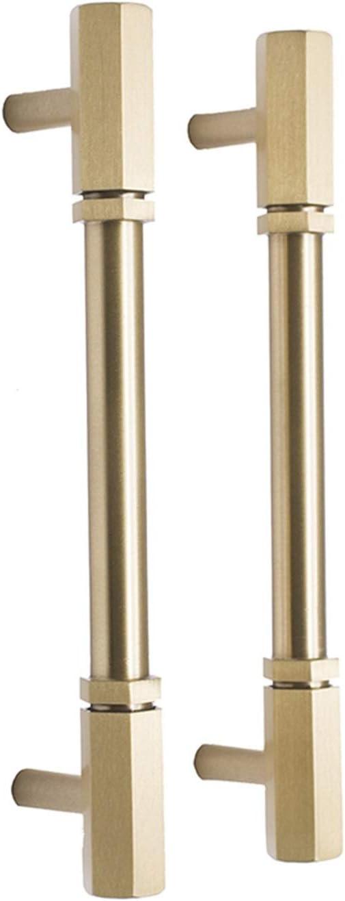 NAIQIU Ranking TOP14 Cabinet pulls Gold Max 49% OFF Brass Knob Knobs Hexagon Handl
