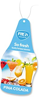 Fresh Way Dry So Fresh Air Fresheners for Car and Home Pack of 5 (Pina Colada)