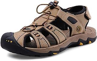 YVWTUC Trwałe skórzane sandały plażowe na co dzień antypoślizgowe letnie buty dla mężczyzn