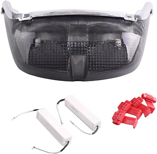 popular Mallofusa Motorcycle high quality Integrated Taillight LED Brake Tail Light Compatible for Yamaha popular YZF R6 1998 1999 2000 Smoke Lens sale