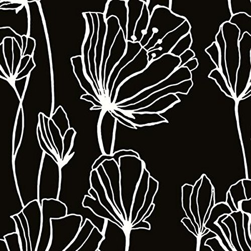 Black Floral Wallpaper Amazon Com