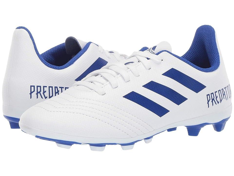 adidas Kids Predator 19.4 FxG Soccer (Little Kid/Big Kid) (White/Bold Blue) Kids Shoes
