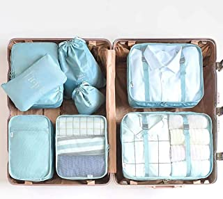 NKLC 8 Set Travel Packing Pods Luggage Organizers, Luggage Organizer, Travel Accessories, Portable Packing Cubes, Travel S...