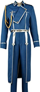 Fullmetal Alchemist Colonel Roy Mustang Military Uniform Cosplay Costume Halloween Party Adult Fancy Dress Outfit
