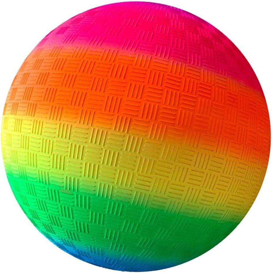 Yummoo Nonslip Rainbow Ball,8.5 Inch Rainbow Playground Ball for
