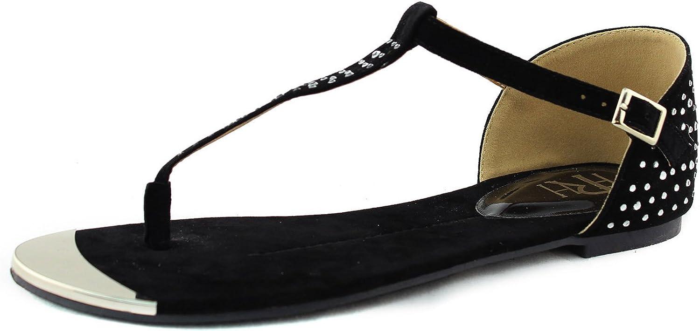 Women's Mark & Maddux Famke-01 T Thong Casual Flats Sandals Fashion shoes