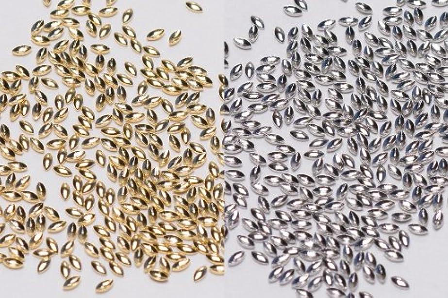 サロンジュニアピストル[リトルプリティー]ネイルパーツ Nail Parts LPスタッズリーフ(1X2) 3S 300入 シルバー