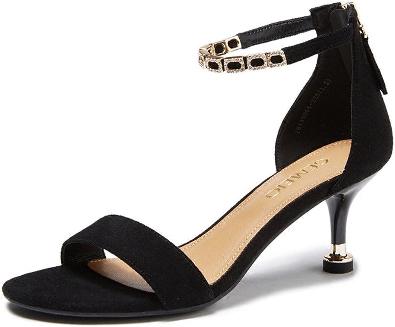 XZGC Sommer Schnalle Tasche mit Open-Toe Sandalen Schuhe mit Hohen Absätzen mit Feinen  | Erste in seiner Klasse  | Erschwinglich  | Erste Klasse in seiner Klasse