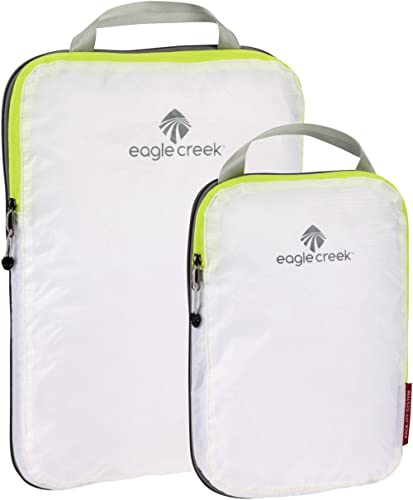 Eagle Creek Travel Gear Luggage Pack-it Specter Compression Cube Set, White/Strobe