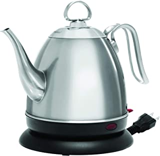 Chantal ELSL37-03M BRS Mia Ekettle Electric Kettle, 32 oz, Brushed Stainless Steel