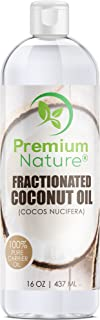 Fractionated Coconut Oil Massage Oil - Cold Pressed Pure MCT Oil for Essential Oils Mixing Dry Skin Moisturizer Natural Carrier Baby Oil for Face Hair & Body Therapeutic Aromatherapy Virgin Raw 16 oz