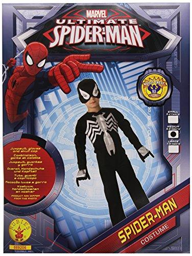 Rubies - Disfraz oficial de Spiderman (talla mediana), color negro