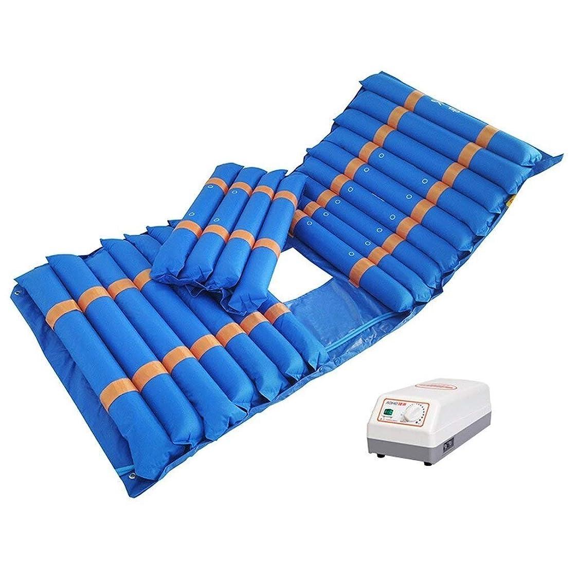 生まれ首心配するマッサージチェア マッサージチェア熱、マッサージマットレス振動パッド、医療用家庭用PVC抗褥瘡手動調整マットレスアンチスキッド+電動ポンプ