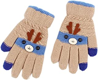 ACVIP Little Girl's Boy's Reindeer Shaped Christmas Cold Weather Mittens
